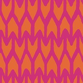 arrow orange pink
