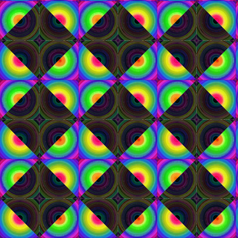 Stacked Logs - Psychadelic Harlequin fabric by chinaberries_studio on Spoonflower - custom fabric