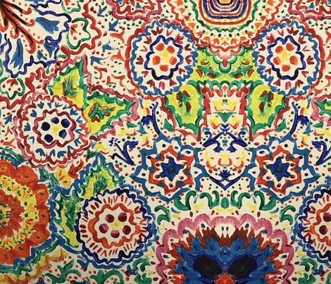 Fleur de Flair fabric by modest on Spoonflower - custom fabric