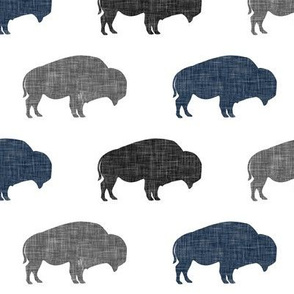 multi buffalo (navy and grey) || the lumberjack collection