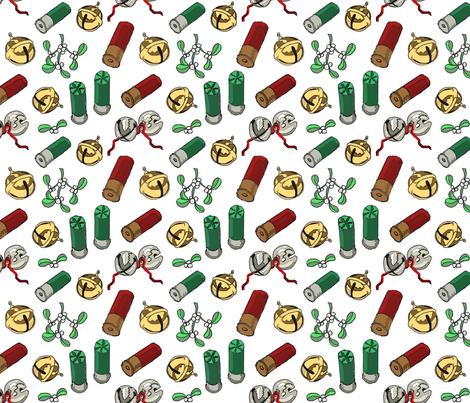 Jingle_bells_shotgun_shells_mistletoe_6x6 fabric by leroyj on Spoonflower - custom fabric