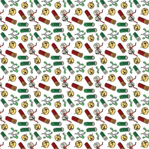Jingle_bells_shotgun_shells_mistletoe_tea_towel
