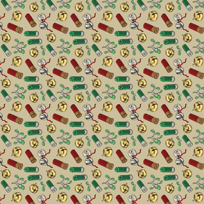 Jingle_bells_shotgun_shells_tan_tea_towel