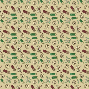 Jingle_bells_shotgun_shells_vintage_tea_towel