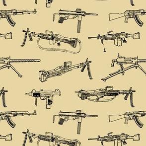 Machine Guns on Desert Sand // Small