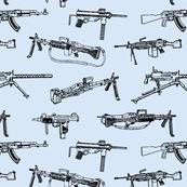 Machine Guns // Light Blue