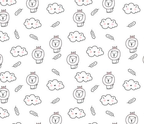 Lions fabric by webvilla on Spoonflower - custom fabric