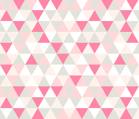 Pink Triangle fabric by webvilla on Spoonflower - custom fabric