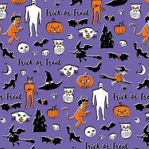 Retro Trick or Treat - Lilac