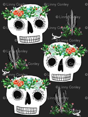 Cactus Crown Sugar Skull