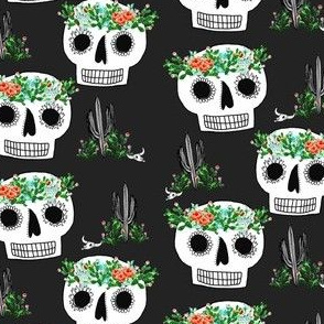Cactus Crown Sugar Skull