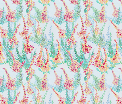 Painted Blossoms fabric by palusalu on Spoonflower - custom fabric