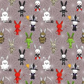 terrifying bunnies (grey)