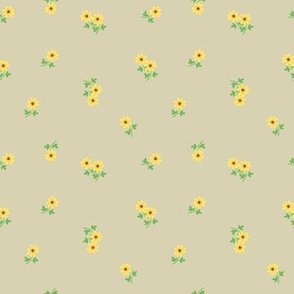 Small tiny yellow flowers
