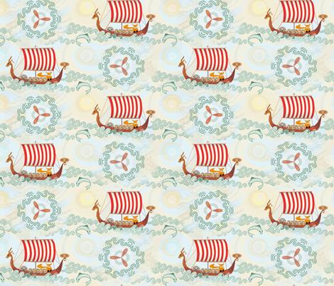 viking-woodland-full2 fabric by wren_leyland on Spoonflower - custom fabric