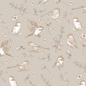 Copper birds