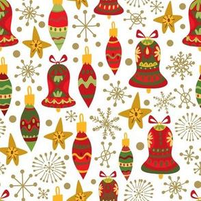 Festive Ornaments - White
