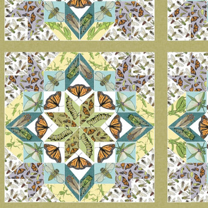 Paper Pieced Insect Quilt