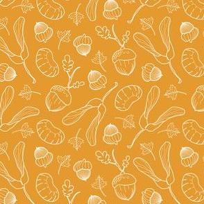 Ditsy Nuts / Mustard