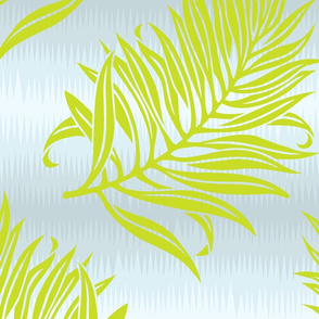Fern Leaf Soft Blue