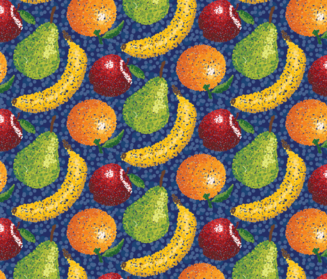 Pointillism_Fruit fabric by lprspr on Spoonflower - custom fabric