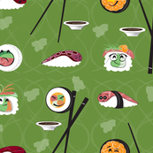 Kawaii Sushi in celery