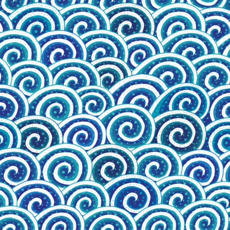 Waves of Waves fabric by lunastone_crafts on Spoonflower - custom fabric