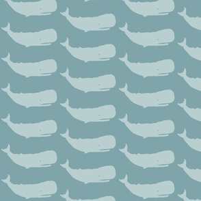 Whale Medium- light silver blue on dark silver blue