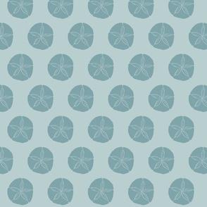 Sand Dollar MED- dark silver blue on light silver blue