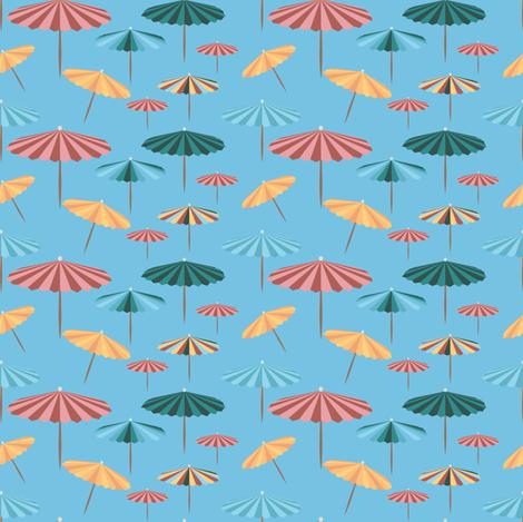 Blue parasol fabric by arrpdesign on Spoonflower - custom fabric