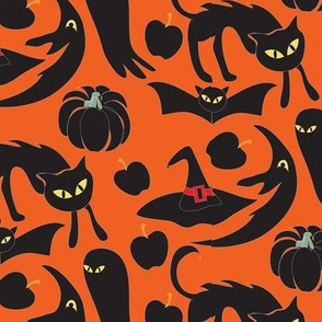 vintage_halloween_pattern_orange