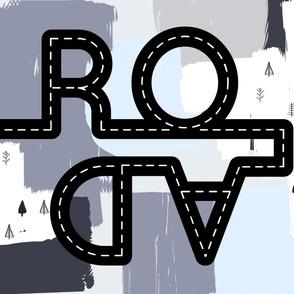 Road play mat || Abstract art || Scandi