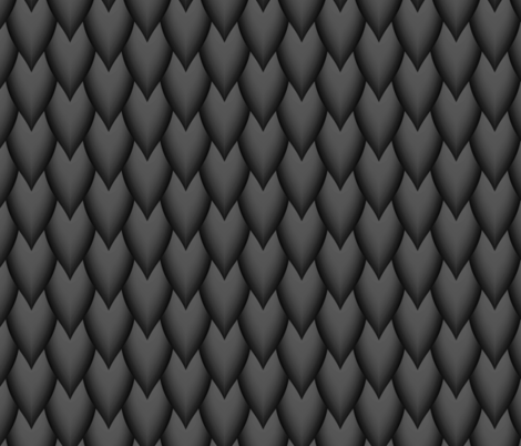 Black Dragon Scales fabric by themadcraftduckie on Spoonflower - custom fabric
