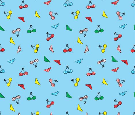 cute bikinis blue fabric by b0rwear on Spoonflower - custom fabric