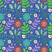 blue flowery garden