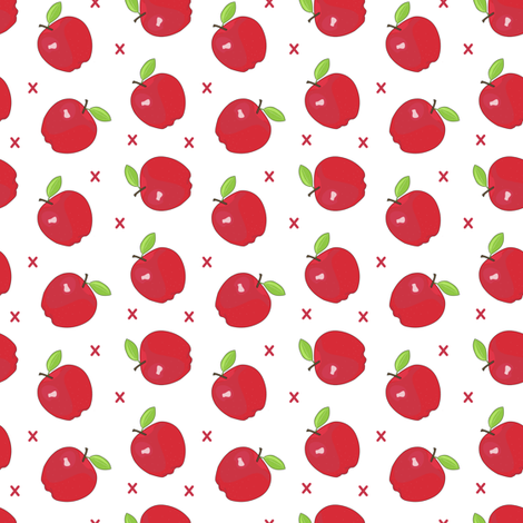 apples and x's fabric by ashesandivy on Spoonflower - custom fabric