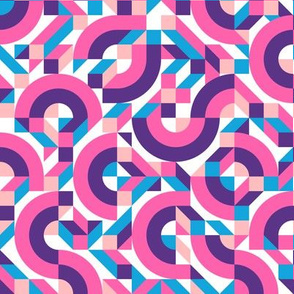 Memphis geometric pink