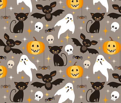 halloween friends fabric by heleenvanbuul on Spoonflower - custom fabric