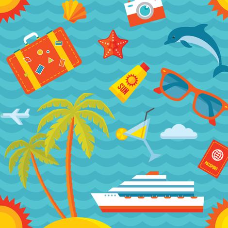 Summer Vacation Sea Cruise fabric by serkorkin on Spoonflower - custom fabric