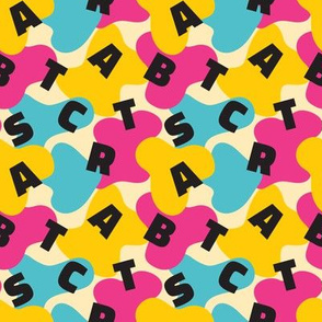 Abstract font Memphis style