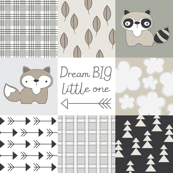 raccoon and fox-wholecloth-neutrals