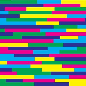 Stripes Glitch Acid Bright Colors