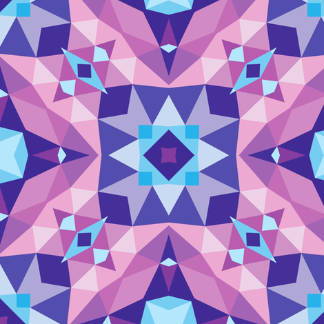 Abstract mosaic blue lilac violet colors fabric by serkorkin on Spoonflower - custom fabric