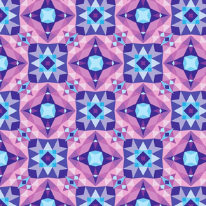 Abstract mosaic blue lilac violet colors