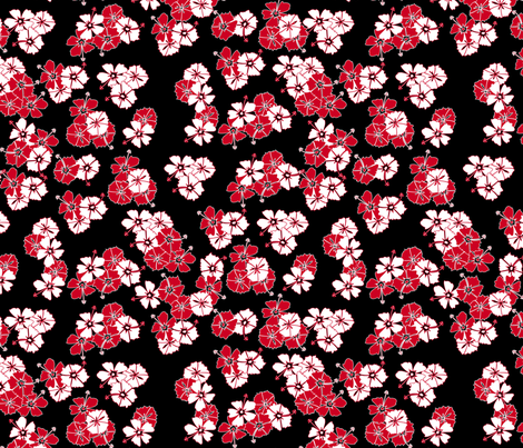 Black Hawaiian Solid fabric by casualtux on Spoonflower - custom fabric