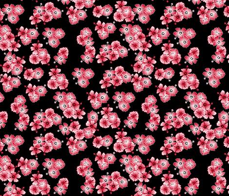 Black Hawaiian Multi1 fabric by casualtux on Spoonflower - custom fabric