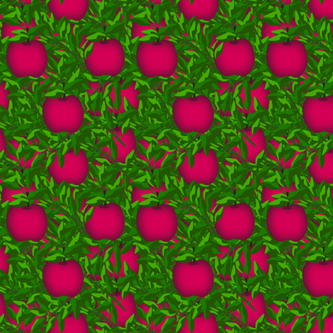 Red apples treasure  fabric by anino on Spoonflower - custom fabric