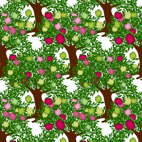 Apple orchard  fabric by anino on Spoonflower - custom fabric