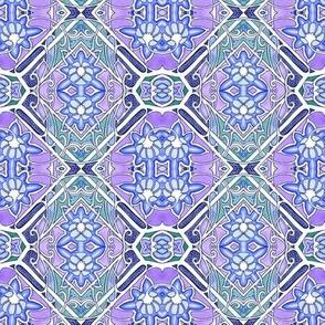 Art Nouveau Overkill Blues (and purple)