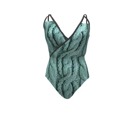 Cabled Knit - Aqua
